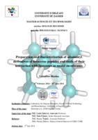 prikaz prve stranice dokumenta Preparation and characterization of adamantyl derivatives of feroccene peptides and study of their interaction with liposomes as model membranes